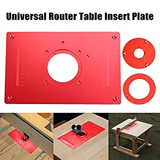 Router table insert do it yourselfore universal router table insert plate aluminium alloy for diy woodworking engraving machine 200x300x10mm keyboard keysfo Choice Image