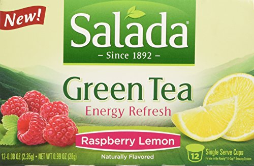 Salada Energy Refresh - Raspberry Lemon Green Tea Single Serve - 12ct
