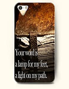 iPhone 5c for kids Case OOFIT Phone Hard Case **NEW** Case with Design Your Word Is A Lamp To Guide My Feet And A Light For My Path - Bible Verses - Case for Apple iPhone 5c