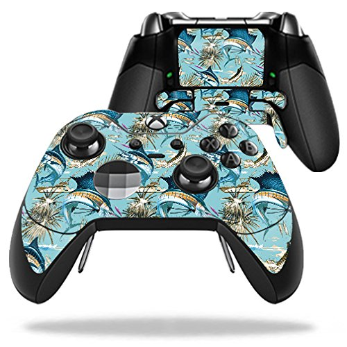 Price comparison product image Skin For Microsoft Xbox One Elite Controller – Island Fish | MightySkins Protective, Durable, and Unique Vinyl Decal wrap cover | Easy To Apply, Remove, and Change Styles | Made in the USA