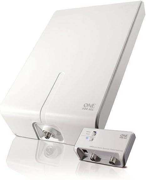 One For All SV9455, Antena de TV para Exterior, Recibe TDT en un rango de 50km, Antena Full HDTV Digital, Incluye Cable Coaxial de Alto Rendimiento, ...