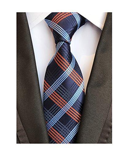 Blue Italian Tie - Luxury Men's Necktie Collections Italian Fabric Necktie Modern Working Tie Bars