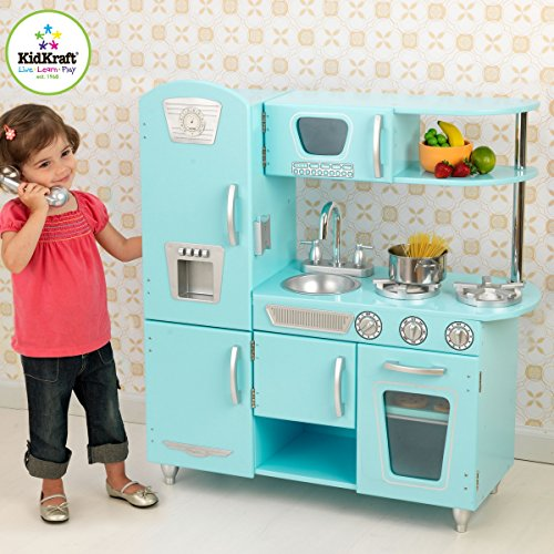 - KidKraft Vintage Play Kitchen - Blue