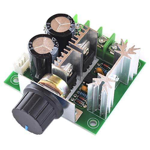 SDTC Tech 12V-40V 10A DC Motor Speed Controller PWM Control Switch 12V 24V 36V Adjustable Speed Driver Regulator with Onboard Knob ()