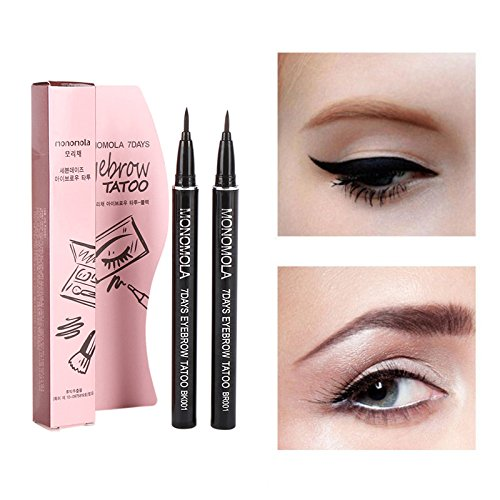 Amazon.com : Luxforia 7 day tattoo eyebrow pen (brown) : Beauty