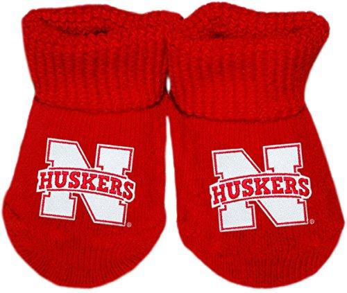 University of Nebraska Huskers Newborn Baby Bootie Sock, Red, Newborn