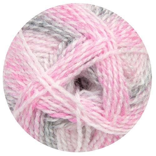 Mary Maxim Sugar Baby Stripes Yarn - Strawberry Nougat