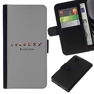 All Phone Most Case / Oferta Especial Cáscara Funda de cuero Monedero Cubierta de proteccion Caso / Wallet Case for LG Nexus 5 D820 D821 // Mario Evolution
