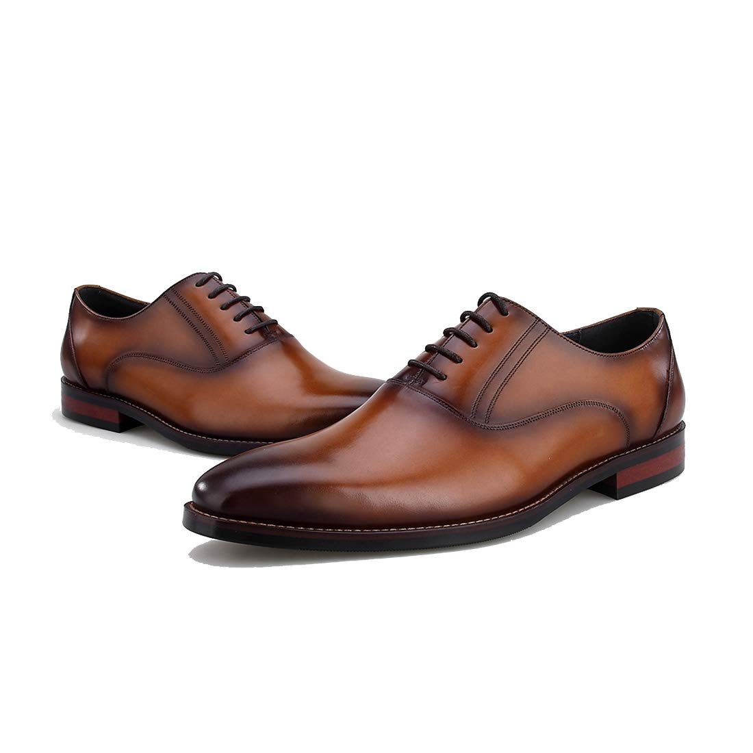 Mens Formal Shoes Business Oxfords Burgundy Dress Business Shoes High-End Business Dress Shoes,Brown,41EU 41EU brown B07HKH2P8N 086bab