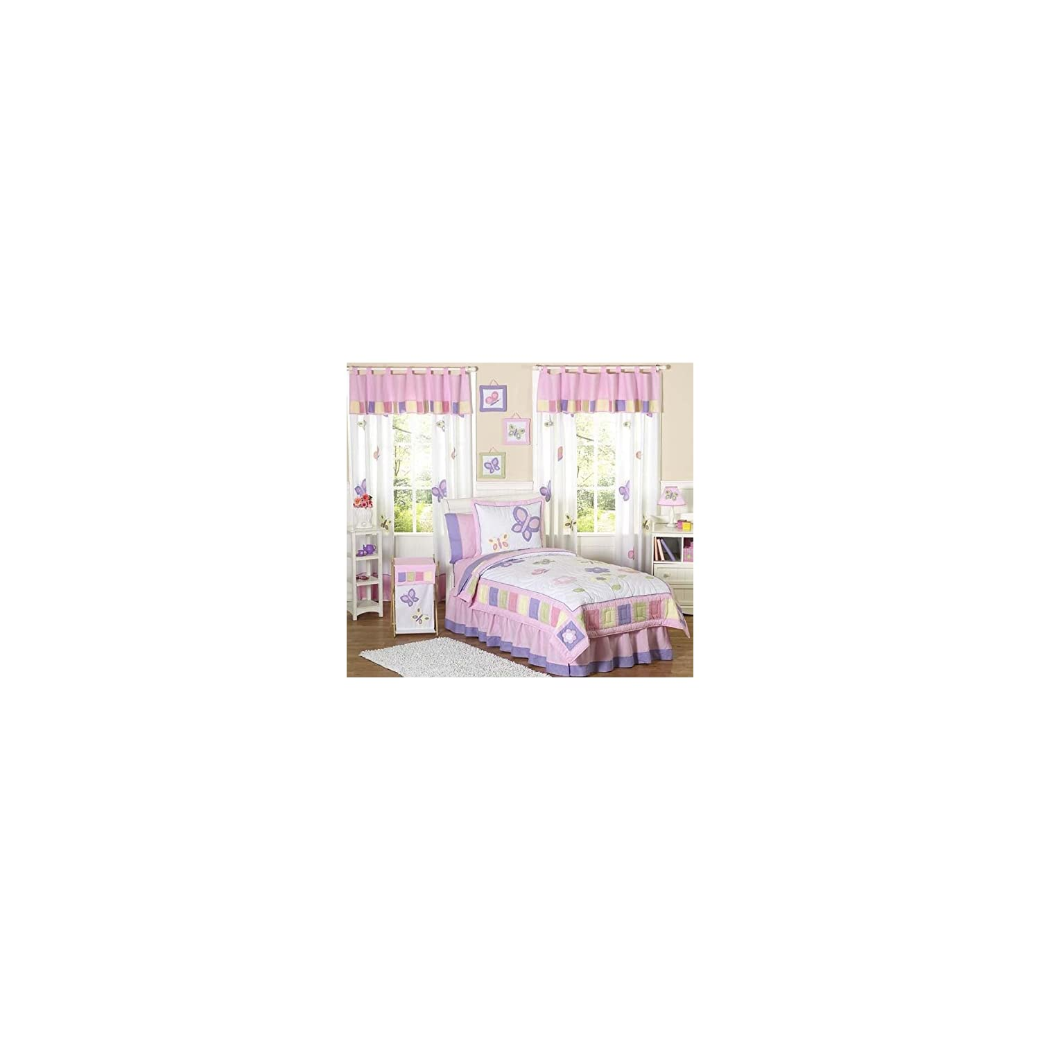 Pink and Purple Butterfly Collection Lamp Shade by Sweet JoJo Designs