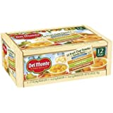 Del Monte No Sugar Added Assorted Flavors Fruit Cup Snacks 2.94 lb, 12 Count