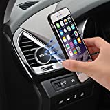 Car Mount Cradle, DESTEK® Magnetic Car Air Vent Mount Phone Holder, Strong Car Mount Cradle Holder with Metal Edge, Powerful and Heat-resistant Magnetism for Iphone 5s 6 6s Samsung