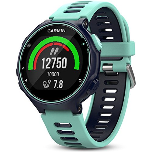 Garmin Forerunner 735XT GPS Running Watch Midnight Blue (010 01614 01) w/ Accessories Bundle Includes, Extreme Speed Charging Clip, Universal USB Travel Wall Charger & 1 Piece Micro Fiber Cloth