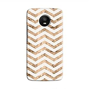 Cover It Up - Brown White Tri Stripes Moto E4 Plus Hard case