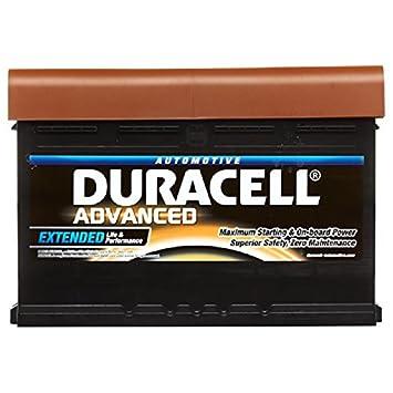 Duracell Car Battery Review >> Duracell Advanced Da80 Car Battery 12v Type 110 80ah 700cca
