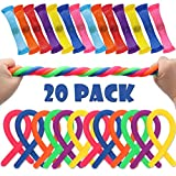 BeYumi Marble Fidget & Stretchy String Toys (20 PCS) - Relieve Stress, Increase Focus, Soothing Marble and Stretchy String for Children, Adults, Kid and Those with ADHD ADD OCD Autism Anxiety