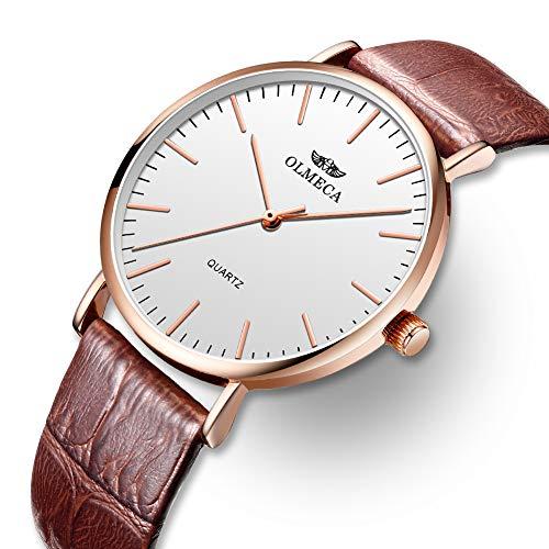 OLMECA Men's Watches Luxury Waterproof Fashion Quartz Women Watches Chronograph Stainless Steel Band Wristwatches for Men