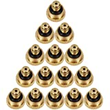 LOOYUAN 20pcs Brass Misting Nozzles for Outdoor Cooling System 0.012