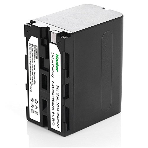 Kastar Replacement Battery for Sony NP-F960 NP-F970 NP-F975 NP-F950 NP-F930 and Sony DCM-M1 MVC-CD1000 HDR-FX1 DCR-VX2100E DSR-PD190P NEX-FS700RH HXR-NX3 Camera, LED Video Light by Kastar