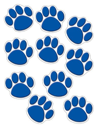 Teacher Created Resources Accents, Blue Paw Print (4275) -