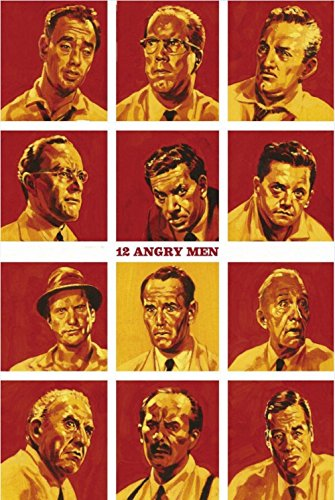 JIONK 12 Angry Men (1957) movie Poster HD HOME WALL Decor Custom Art Deco unframed -1893 size (inch):24x36