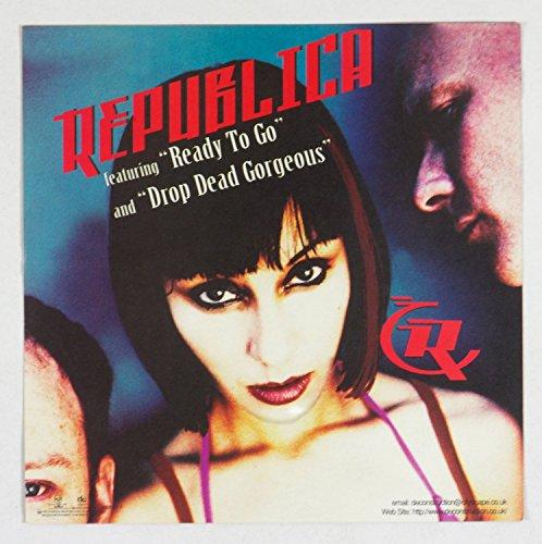 Republica Drop Dead Gorgeous 1996 New Album Promo 12x12 Poster Flat 2 sided (Promo Drop)