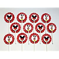 "12 MICKEY MOUSE Cupcake Topper - Party Picks - ( 2.5"" diameter )"