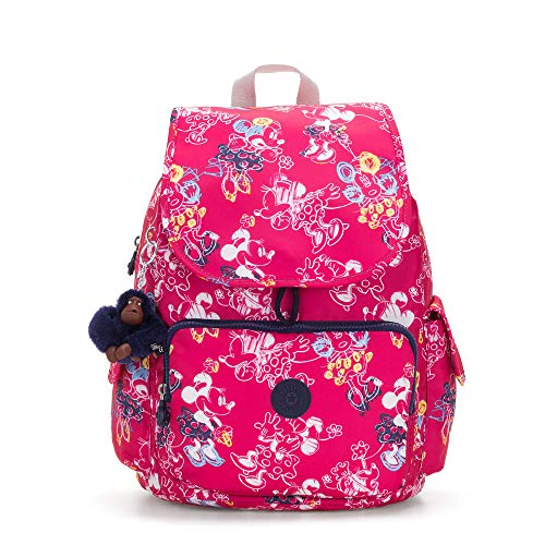 Kipling Disney's Minnie Mouse And Mickey Mouse City Pack Backpack Doodle Pink (Kipling Collection City)