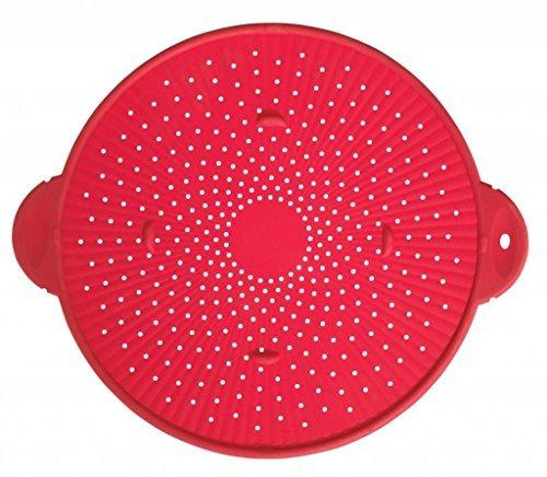 (Silicone Splatter Guard Skillet Pot Pan Cover Strainer Trivet Round 11