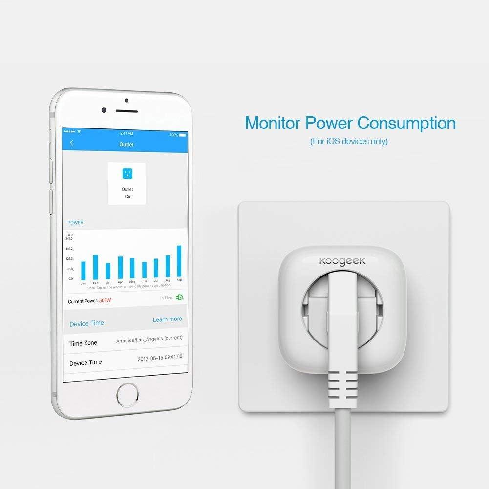 Koogeek Enchufe Inteligente Wifi,Inalámbrico Smart plug HomeKit ...