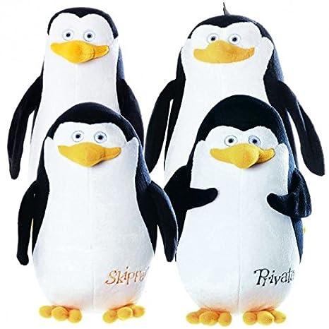 Madagascar - Peluches pingüinos de Madagascar con nombres para elegir 28-30 cm, Plüsch Figur:Skipper: Amazon.es: Juguetes y juegos