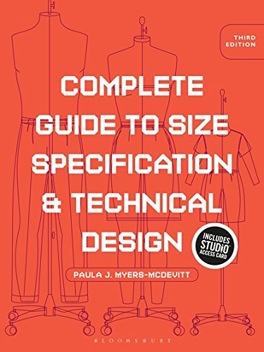 Complete Guide to Size Specification and Technical Design: Bundle Book + Studio Access (Technical Specifications)