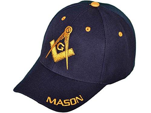 ky Dozen Pack Wholesale ''Mason' Masonic Baseball Hats Caps (Navy)