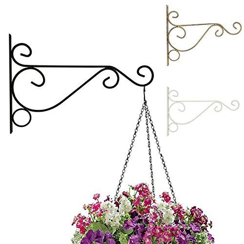 Hook Home Garden Decor - CHoppyWAVE Flower Pot Metal Iron Wall Hanging Bracket Art Plant Holder Hanger Hook Home Garden Decor - Bronze L