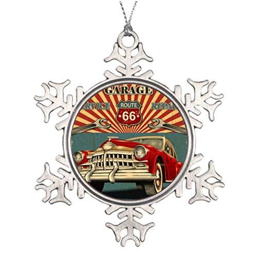 Cheyan Tree Decorating Ideas Vintage car House Snowflake Ornaments -