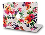 KEC MacBook Pro 13 Inch Case (CD Drive) Plastic Hard Shell Cover A1278 (Flower 8)