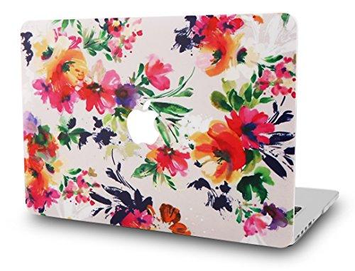 "KEC MacBook Pro 13"" Retina Case (2015) Cover Plastic Hard Shell Rubberized A1502 / A1425 (Flower 8)"