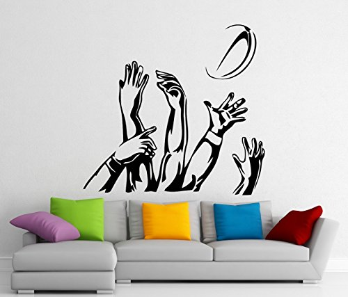 (Rugby Wall Decal Vinyl Sports Sticker Wall Decor Removable Waterproof Decal)