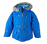 Obermeyer Kids Girls Taiya Jacket Stellar Blue 5 & E-tip Glove Bundle