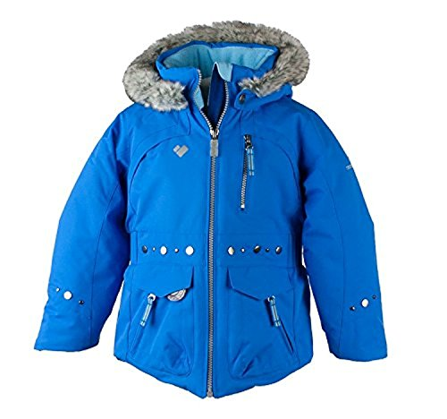 Obermeyer Kids Girls Taiya Jacket Stellar Blue 5 & E-tip Glove Bundle by Obermeyer