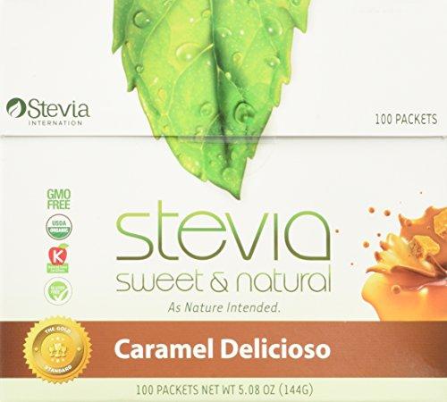 100 Packet Box - AnuMed - Stevia Caramel Delicioso Packets 100 Per Box