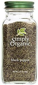 Simply Organic, Ground Black Pepper, 2.31 oz