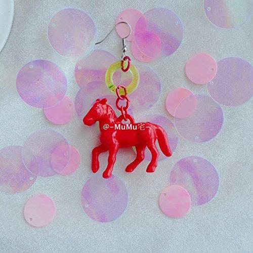 Ears Foal - Exclusive original custom hand-made personalized colored circle earrings earrings ear clip foal