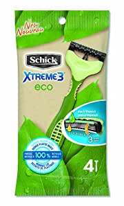 Schick Xtreme 3 Eco Men's Disposable Razor, 4 Count