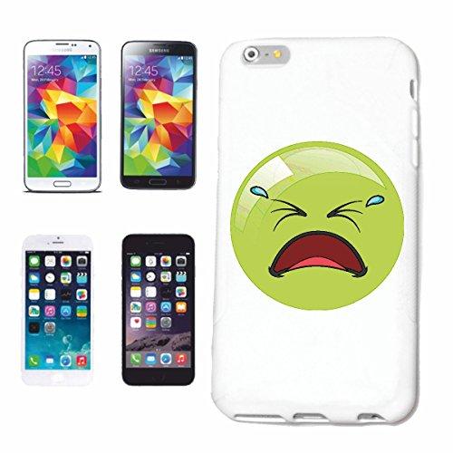 """cas de téléphone iPhone 5C """"GREEN SMILEY AVEC larmes dans les yeux """"sourire EMOTICON APP de SMILEYS SMILIES ANDROID IPHONE EMOTICONS IOS"""" Hard Case Cover Téléphone Covers Smart Cover pour Apple iPhone"""