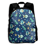 oasis black bean - Tropical Fishes Sea Life-01 Kid Boys Girls Toddler Pre School Backpack Bags Lightweight