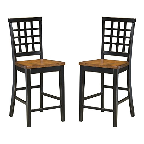 Arlington Lattice Back Counter Height Chairs - Set of 2