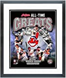 """Cleveland Indians All Time Greats Photo 12.5"""" x 15.5"""" Framed"""