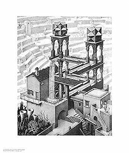 Waterfall M. C. Escher Fantasy Nature Poster Print 21.5x25.5 - Escher Check
