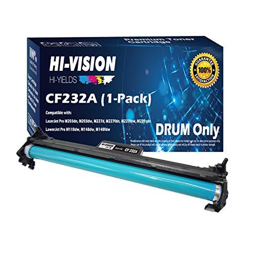 HI-VISION HI-YIELDS Compatible Drum Unit Replacement CF232A 32A 23,000 Pages for HP Laserjet Pro M203dn M203dw M227d M227fdn M227fdw M227sdn (Black, 1-Pack) ()